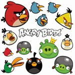Angry Birds jedl� pap�r na dort