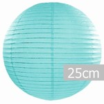 Lampion kulatý 25cm Tiffany blue