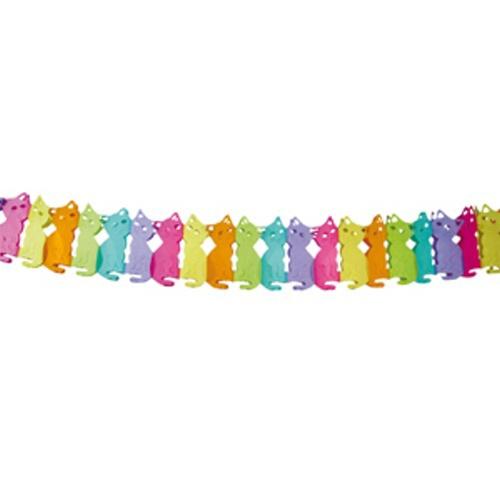 Girlanda barevná kočičky 3m