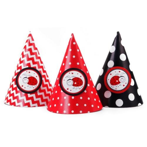 f7eb6005ce1 Party čepičky Ladybugs 6ks - MojeParty.cz