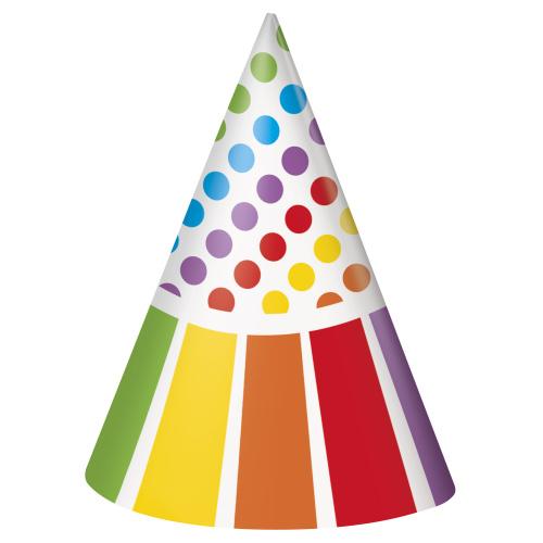 5955af5f005 Party čepičky Rainbow 8ks - MojeParty.cz