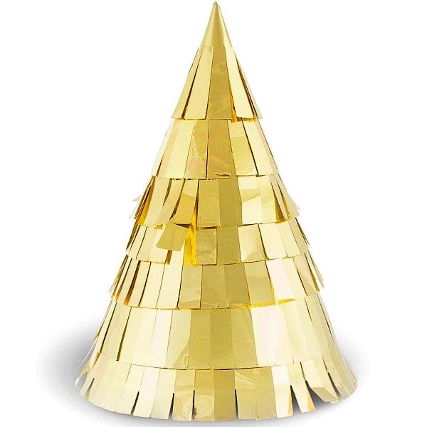 ČEPIČKY papírové Zlatá párty 6ks