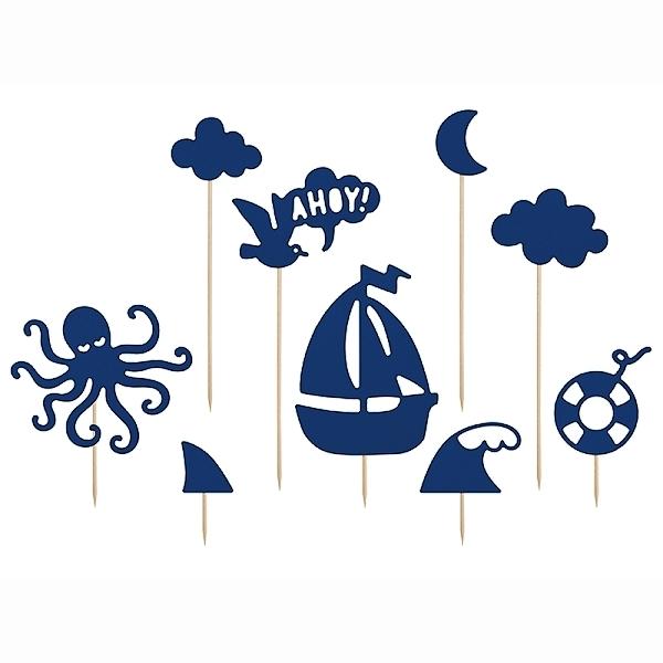 DEKORACE na dort Ahoy 9ks