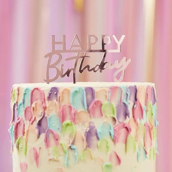 DEKORACE na dort HB růžová