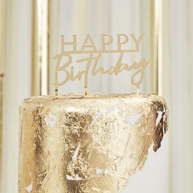DEKORACE na dort HB zlatá