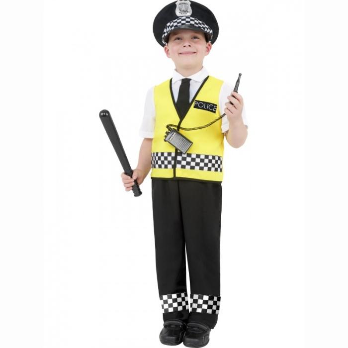 KOSTÝM Policista černožlutý 1ks