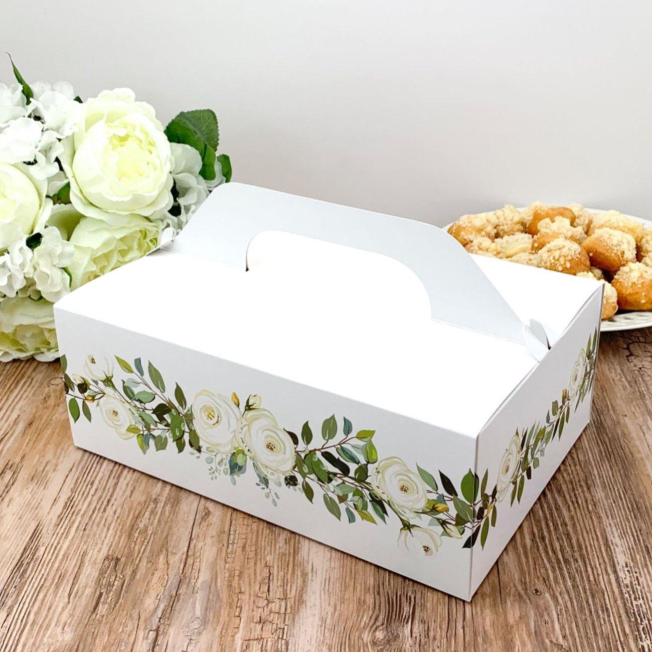 KRABIČKY NA VÝSLUŽKU XL Bílá růže 5ks