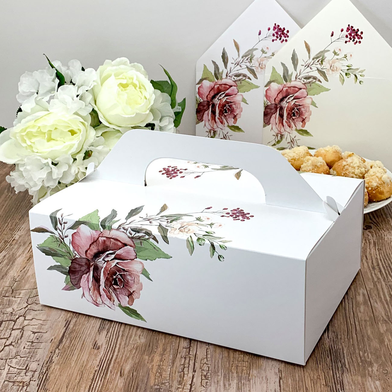 KRABIČKY NA VÝSLUŽKU XL Nature Flowers bordó 5ks