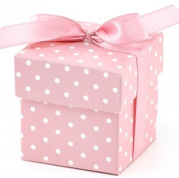 KRABIČKY s puntíky růžové 10ks