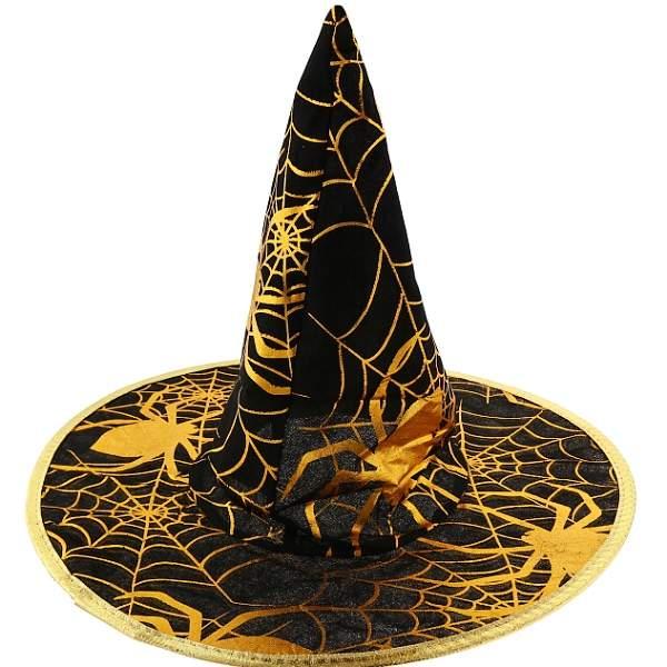 Klobouk čarodějnický zlatý pavouk