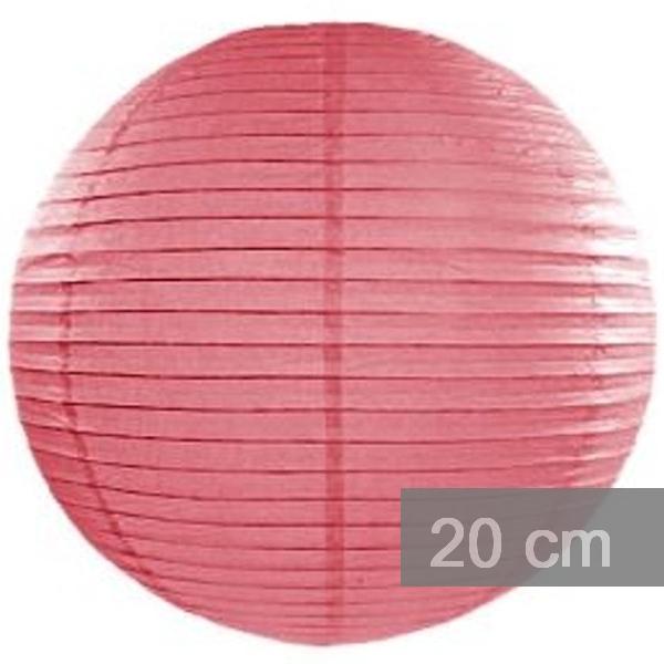 Lampion kulatý 20cm korálový
