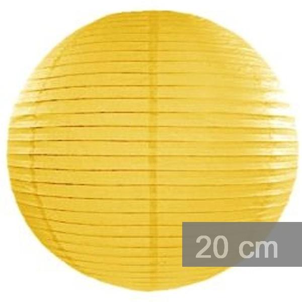 Lampion kulatý 20cm žlutý