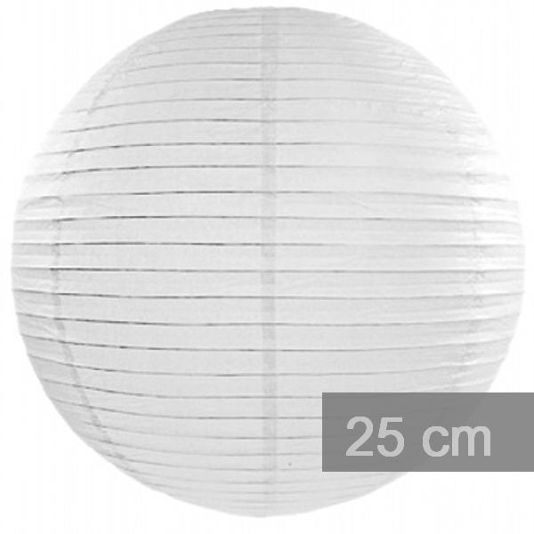 Lampion kulatý 25cm bílý