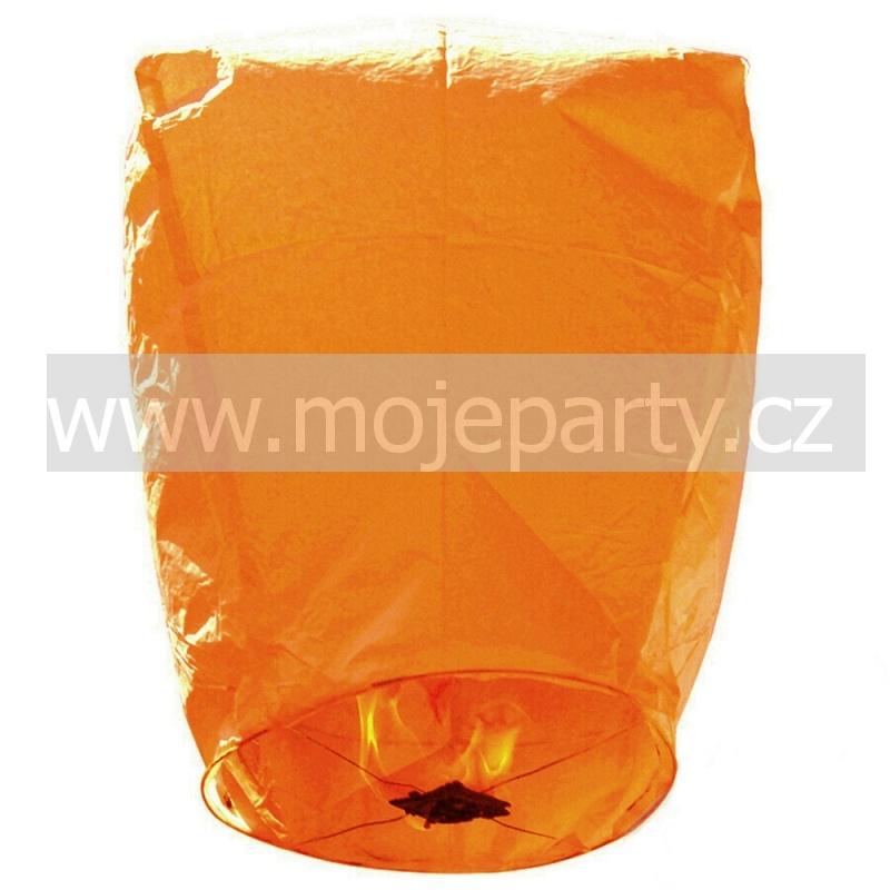 Létající lampión přání oranžový