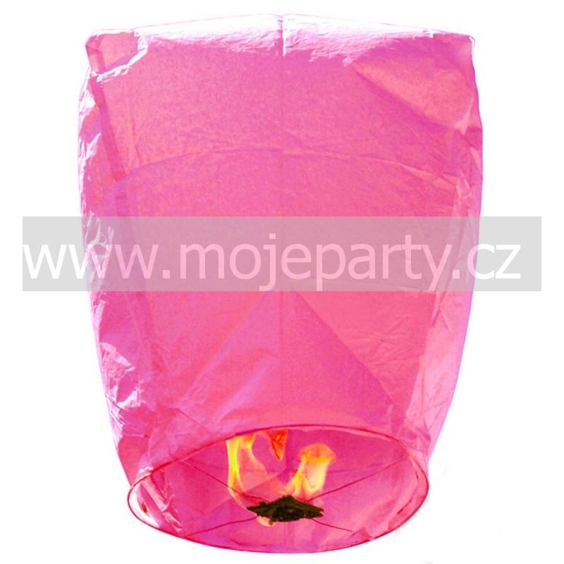 Létající lampión přání růžový