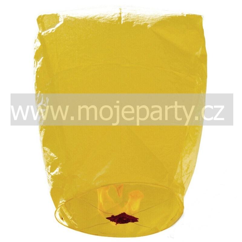 Létající lampión přání žlutý