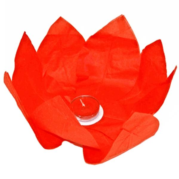 PLOVOUCÍ LAMPION přání červený 30cm