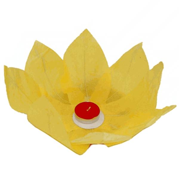 Plovoucí lampión přání žlutý