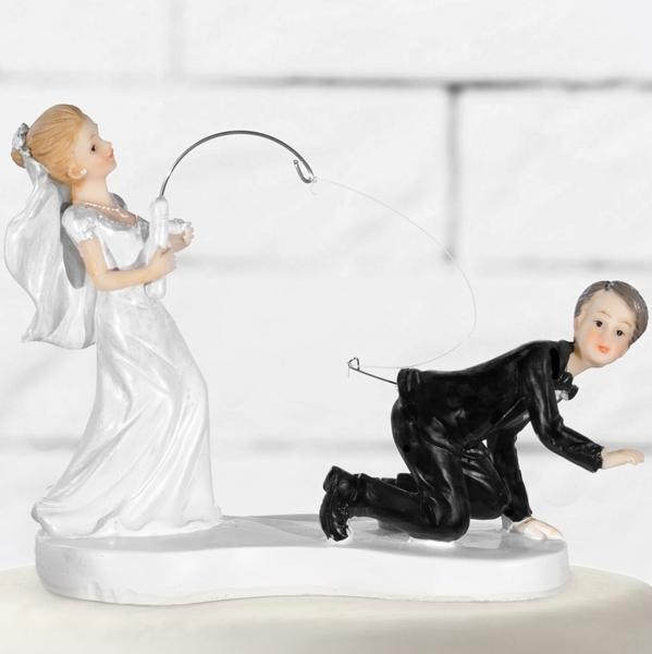 Svatební figurka Nevěsta a ženich na udičce