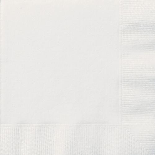 UBROUSKY jednobarevné bílé - 33x33cm 20ks