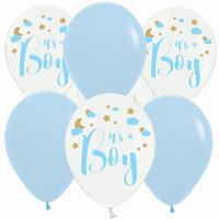 BALONKY MIX Baby blue Star 6ks