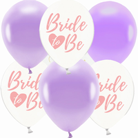 BALONKY MIX Bride to be lila  6ks