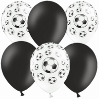 BALONKY MIX Fotbal Black 30cm, 6ks