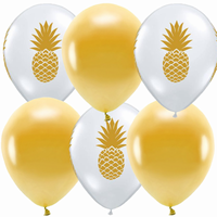 BALONKY MIX - ananas Gold - 6ks - 30cm
