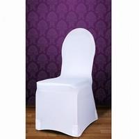 e5823435a243 Potah na židli elastický bílý hrubší tkanina