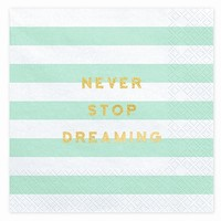 UBROUSKY YUMMY Never stop dreaming, mint, 33x33cm