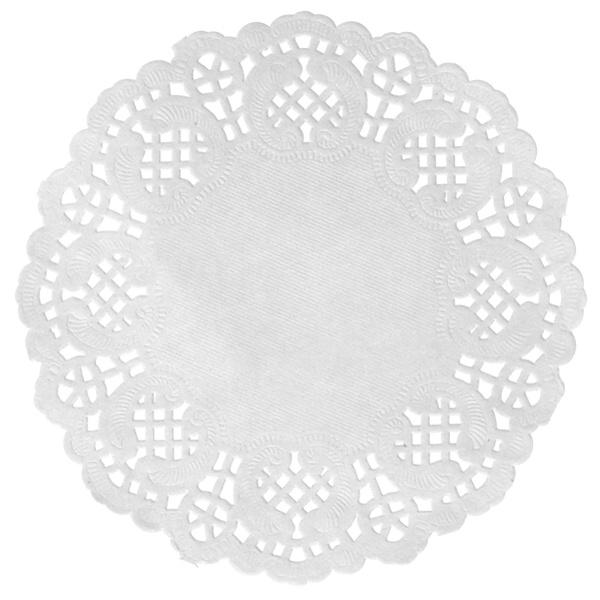 Prostírání na stůl krajkové bílé 10ks
