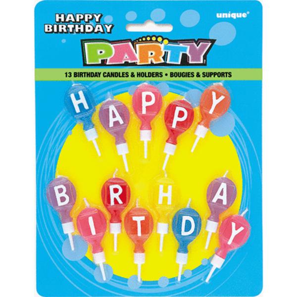 SVÍČKY narozeninové set Happy Birthday