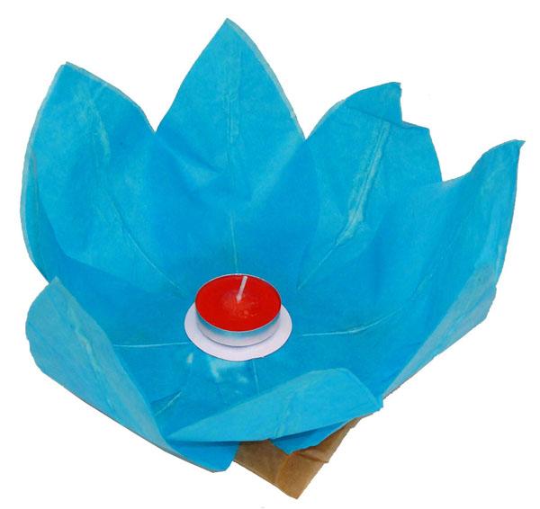 Plovoucí lampión přání sv. modrý