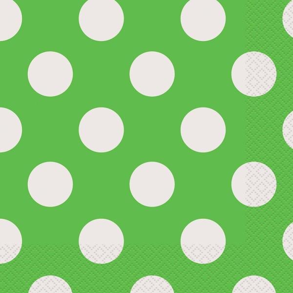 Ubrousky s puntíky zelené