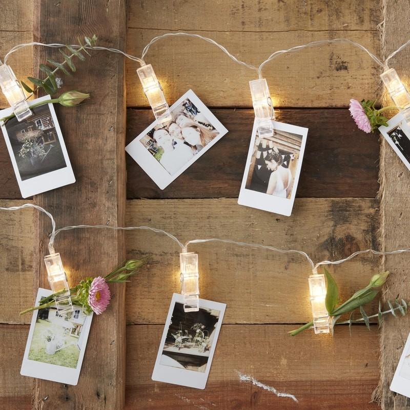 LED světelný řetěz s kolíčky na fotky 1,4m