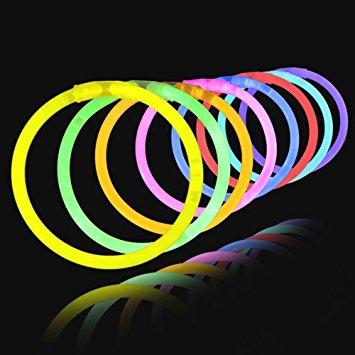 NÁRAMKY svítící různé barvy 25ks