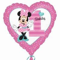 BALÓNEK FÓLIOVÝ srdce Minnie 1.narozeniny 43cm 045f7af941