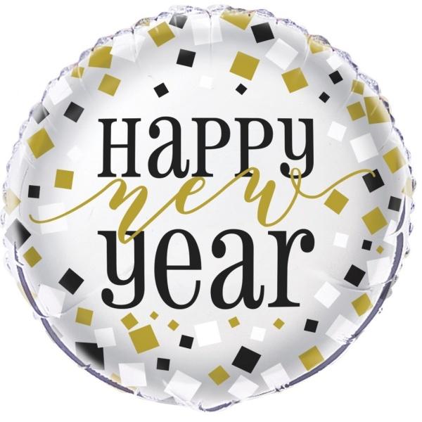 Levně BALÓNEK fóliový Happy New Year stříbrný