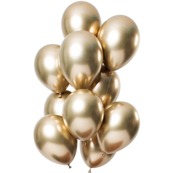 BALÓNKY latexové zářivé zlaté 33cm 12ks