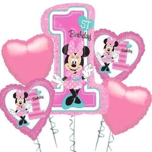 Balónkový buket Minnie 1. narozeniny - MojeParty.cz c0176baf31