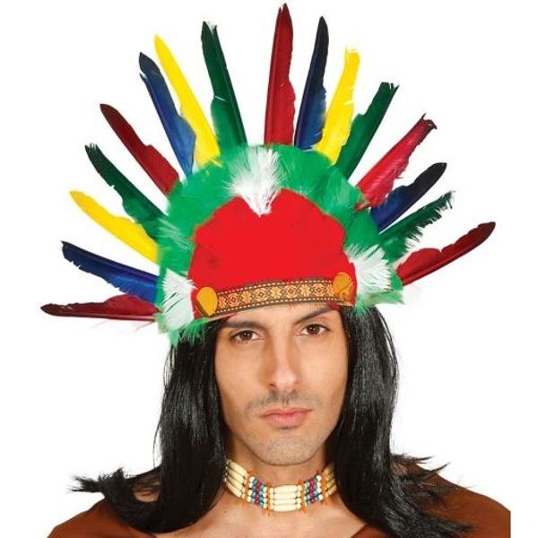 ČELENKA indiánská Náčelník s pírky