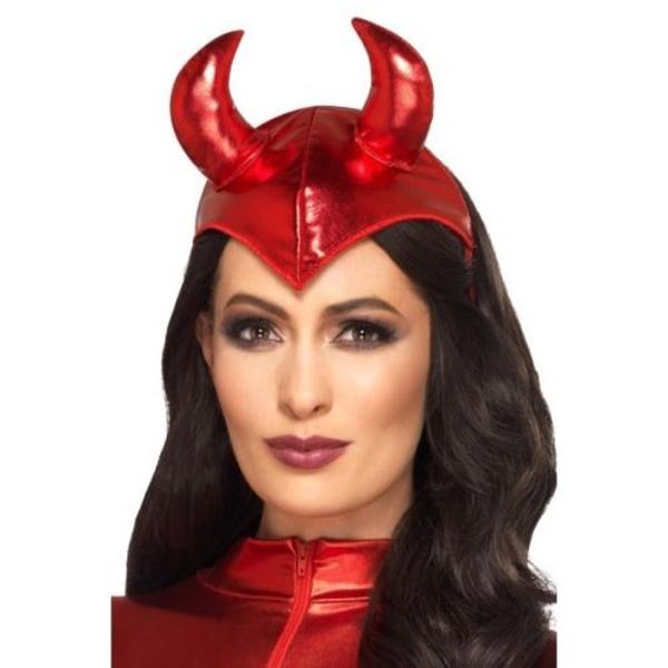 ČERTOVSKÁ ČELENKA s rohy, ďáblice