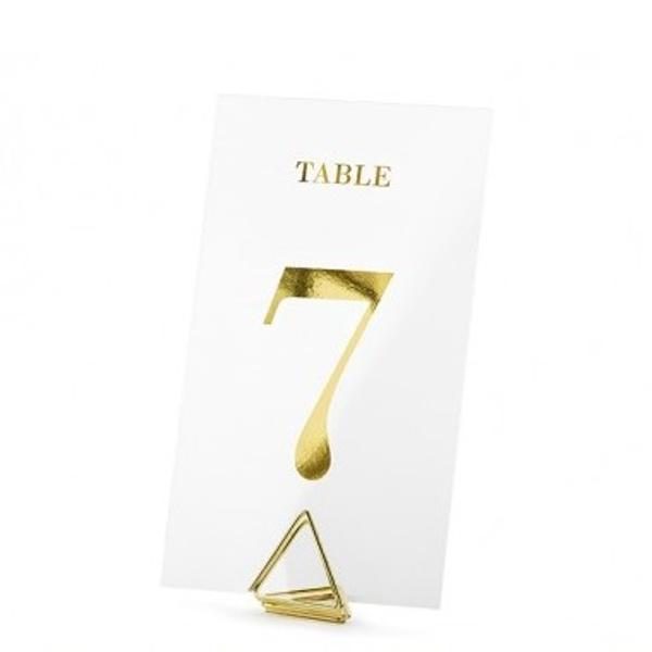 ČÍSLICE na stůl transparentní zlaté 7x12cm, 20ks
