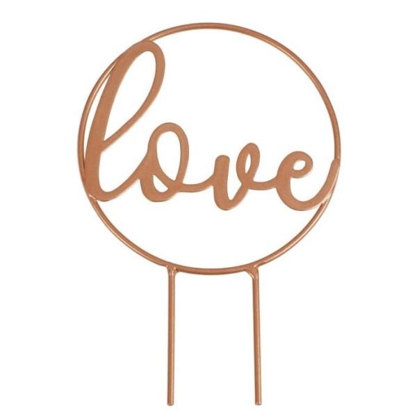 DEKORACE na dort Love růžové zlato