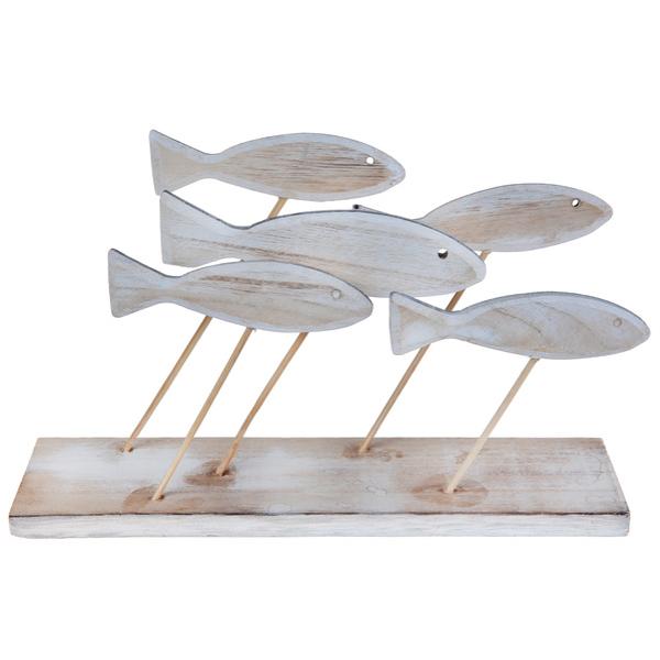 DEKORACE na stůl dřevěné Rybičky