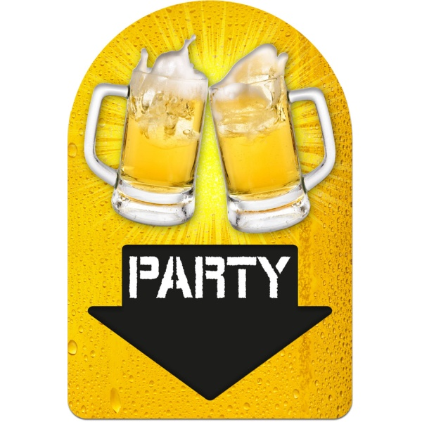 DEKORAČNÍ cedule Party Pivo 38x58cm