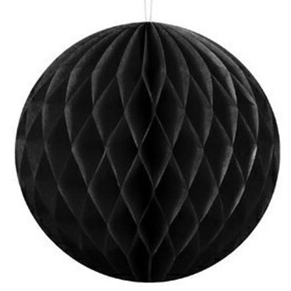 c2c69d09c18 KOULE papírová dekorační černá 40cm - MojeParty.cz