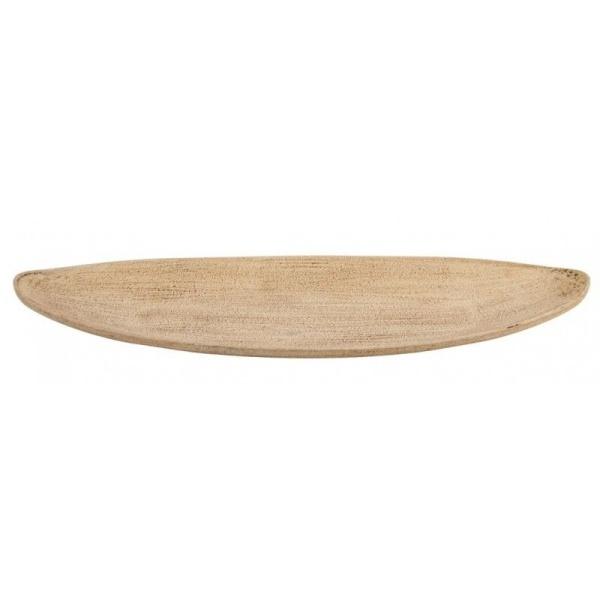 DEKORAČNÍ tác dřevěný Loďka 40x11,5x3cm