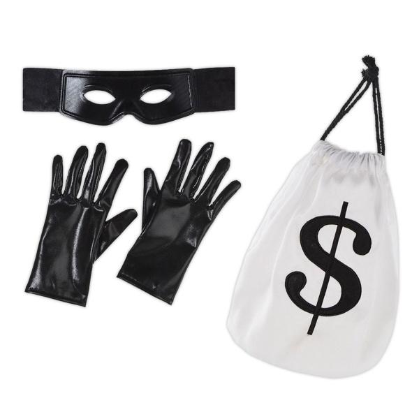 PARTY SET Zloděj - doplňky ke kostýmu - maska, rukavice, taška