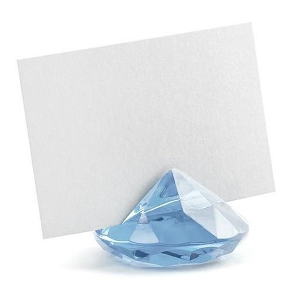 DRŽÁK na jmenovku diamant modrý